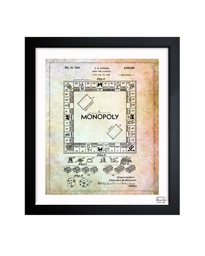 Oliver Gal 'Monopoly 1935' Framed Print