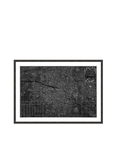 Oliver Gal Nouveau Map du Paris 1780 Framed Art Print