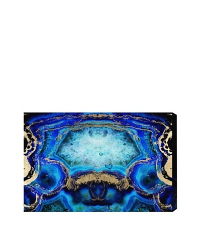 "Oliver Gal ""Geode Bleu"" Giclée On Canvas"