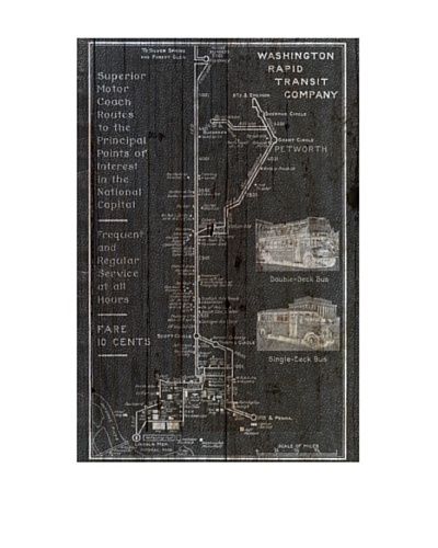 Oliver Gal 'Washington Rapid Transit Co. Map 1927' American Reclaimed Wood Wall Art