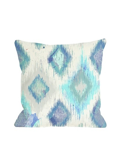 Oliver Gal by One Bella Casa Del Mar Square Pillow, Ivory Blue