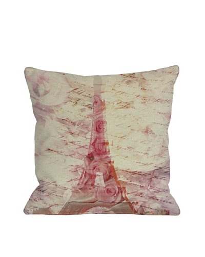 Oliver Gal by One Bella Casa Love Letters Square Pillow, Pink Multi
