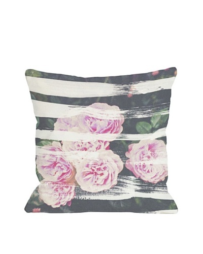 Oliver Gal by One Bella Casa Blooming Strokes Pillow, Pink/Multi