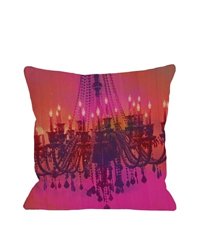 Oliver Gal by One Bella Casa Light Me Up Square Pillow, Pink Multi