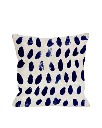 Oliver Gal by One Bella Casa Marismas Blue Pillow, Ivory/Blue