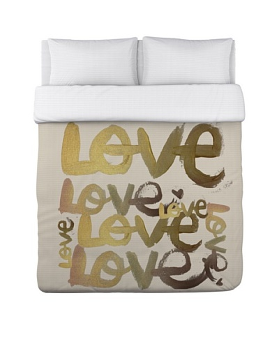 Oliver Gal by One Bella Casa Four Letter Word Duvet Cover