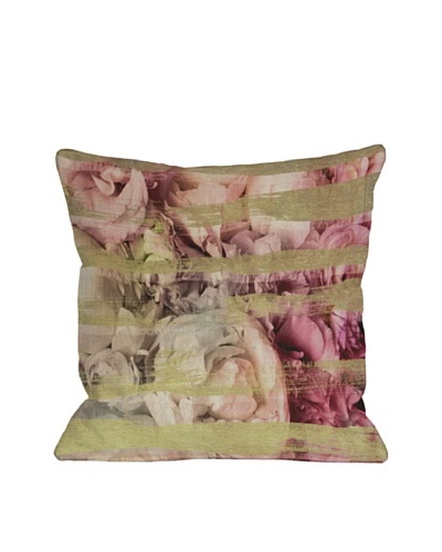 Oliver Gal by One Bella Casa Field of Roses Pillow, Pink