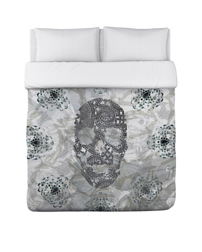 Oliver Gal by One Bella Casa Blair Skull Duvet Cover