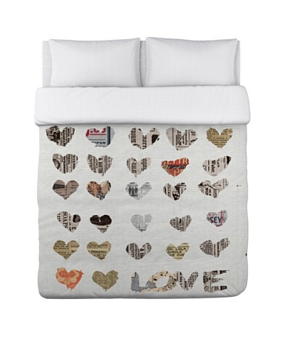 Oliver Gal by One Bella Casa In The Paper Duvet Cover