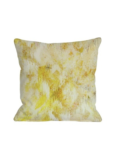 Oliver Gal by One Bella Casa Bird Song Square Pillow, Yellow Multi