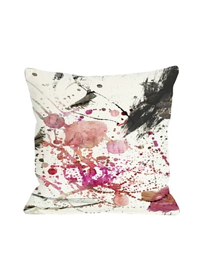 Oliver Gal by One Bella Casa Dawn of Times Square Pillow, Pink Multi