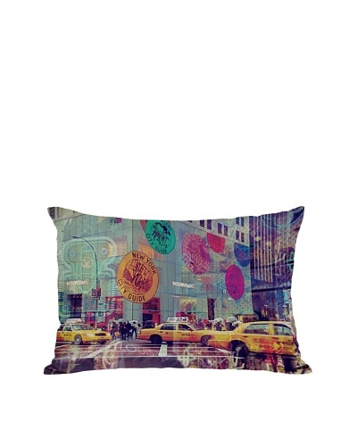 Oliver Gal by One Bella Casa NYC Fashion Taxi Pillow, Multi