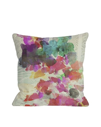 Oliver Gal by One Bella Casa Inside Her Eyes Square Pillow, Multi Brights