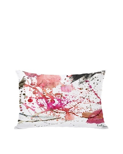 Oliver Gal by One Bella Casa Dawn of Times Boudoir Pillow, Pink Multi