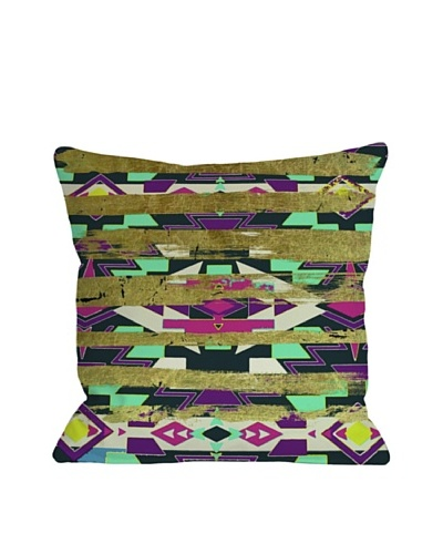 Oliver Gal by One Bella Casa Navajo Neon Square Pillow, Neon Multi