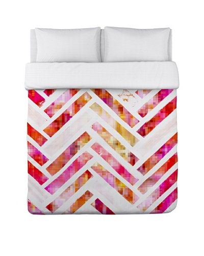 Oliver Gal by One Bella Casa Sugar Flake Herringbone Duvet Cover