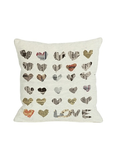 Oliver Gal by One Bella Casa In The Paper Square Pillow, Multi