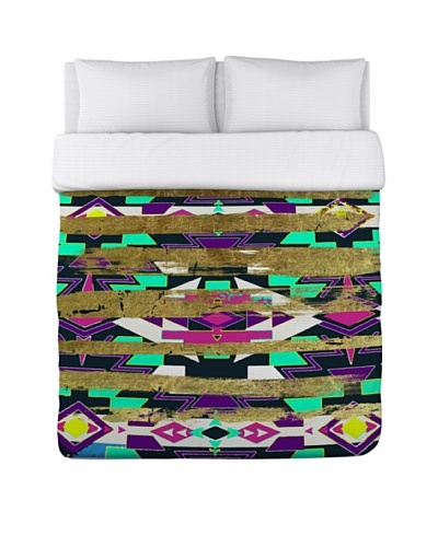 Oliver Gal by One Bella Casa Navajo Neon Duvet Cover