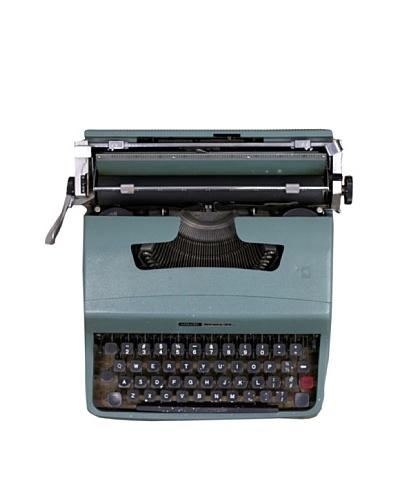 Olivetti Vintage Typewriter, Turquoise