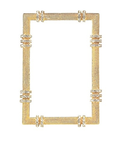 Olivia Riegel Swarovski Encrusted 4 x 6 Gold Cassini Frame