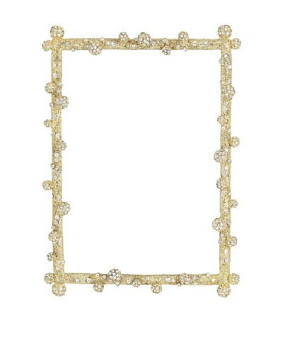 Olivia Riegel Gold Pave 5 x 7 Odyssey Frame with Swarovski® Crystal Pave Clusters