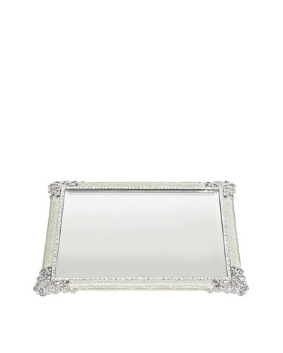 Olivia Riegel Swarovski Crystal Elegance Beveled Mirror Tray