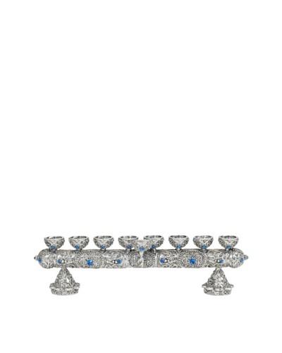 Olivia Riegel Menorah with Hand-Set Sapphire Swarovski Crystals