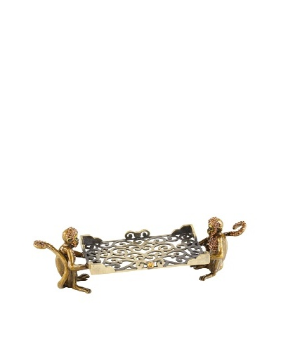 Olivia Riegel Swarovski Encrusted Monkey Business Card Holder