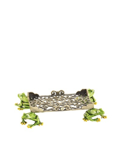 Olivia Riegel Swarovski Encrusted Frog Business Card Holder