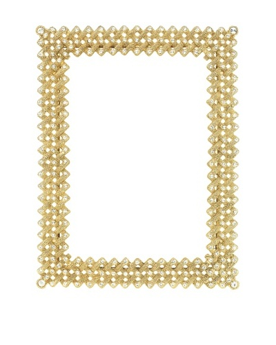 Olivia Riegel Swarovski Encrusted Gold Lattice Frame