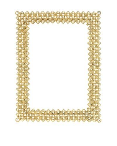 Olivia Riegel Swarovski Encrusted Gold Lattice Frame