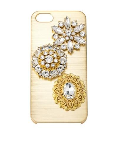 Olivia Riegel Gold Jossie iPhone 5 case Swarovski® Crystal Encrusted Medallion