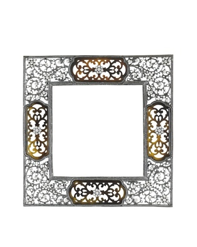"Olivia Riegel Swarovski Encrusted 4"" x 4"" Queen Anne's Lace Frame"