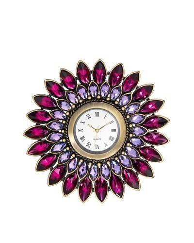 Olivia Riegel Pewter Amethyst Dahlia Desk Clock