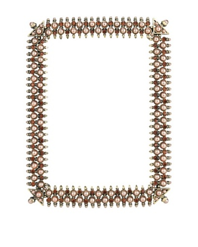 Olivia Riegel Lana 5 x7Frame with Brown Pearls