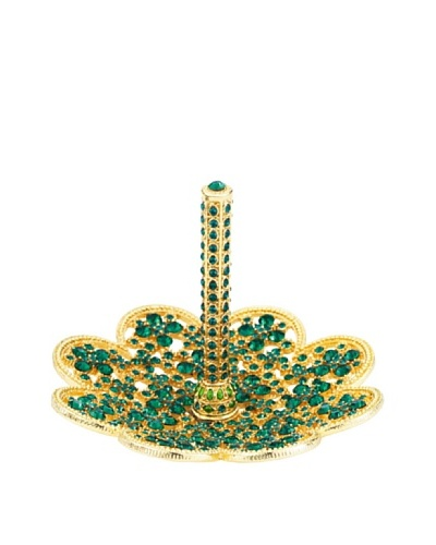 Olivia Riegel May Ring Holder with Emerald Swarovski® Crystals