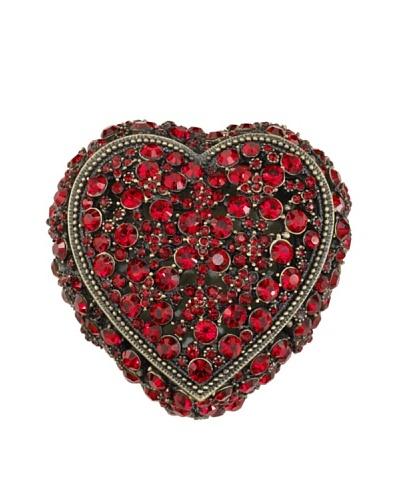 Olivia Riegel Swarovski Encrusted Garnet Heart Box