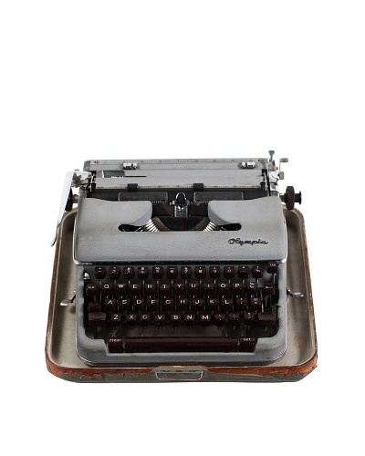 Olympia Vintage Typewriter, Steel Grey