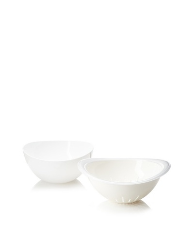 Omada Trendy Bowl and Colander Set [White]