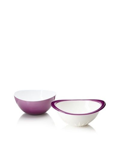 Omada Trendy Bowl and Colander Set [Prune]
