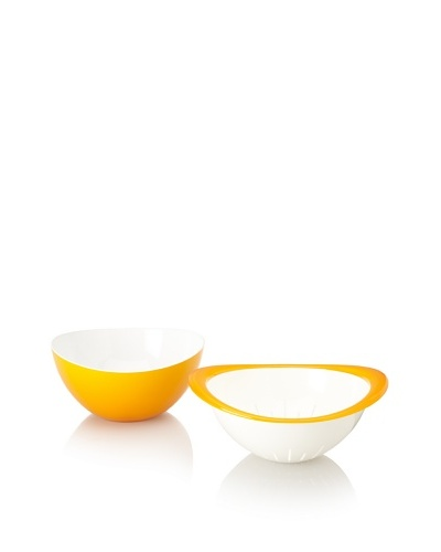 Omada Trendy Bowl and Colander Set [Yellow]