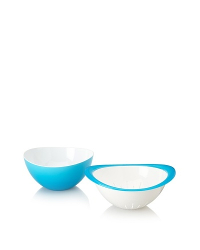 Omada Trendy Bowl and Colander Set [Turquoise]