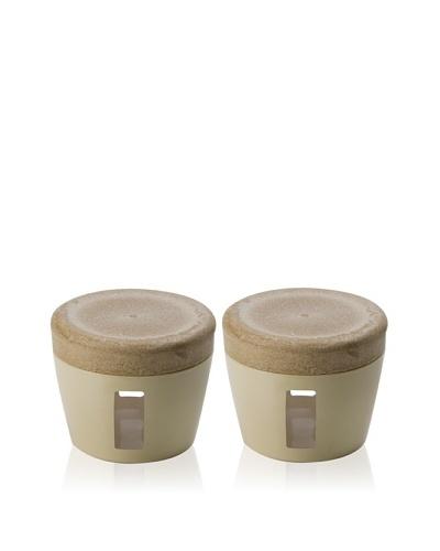 Omada Set of 2 Eco Living Jars [Ivory]