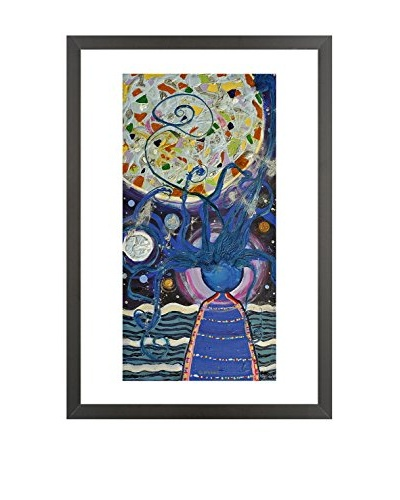 Omni The Lady With The Moon In Her Hair Limited Edition Framed Giclée