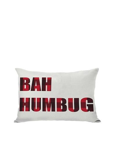One Bella Casa Plaid Bah Humbug Reversible Pillow