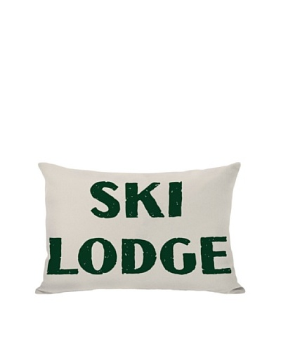 One Bella Casa Ski Lodge Pillow