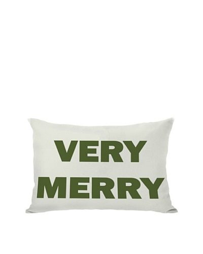 One Bella Casa Very Merry Reversible Pillow