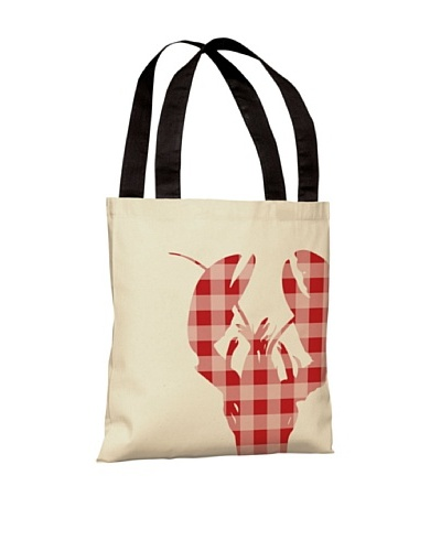 One Bella Casa Plaid Lobster, Red