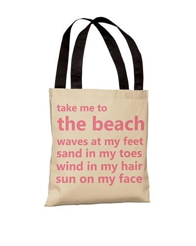 One Bella Casa Take Me To The Beach Beach Tote