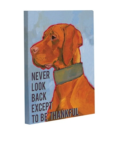 "One Bella Casa ""Never Look Back Except To Be Thankful"" Giclée Canvas Wall Décor"